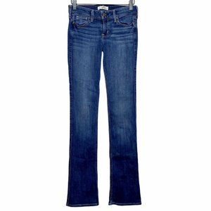 Hollister Bootcut Low Rise Stretch Dark Wash Jeans
